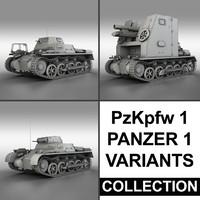 panzerkampfwagen 1 panzer - 3d model