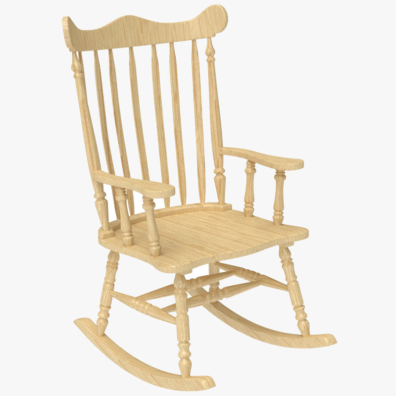 D blend rocking chair wooden