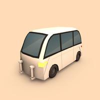 Electric Taxi Car (Cartoon)