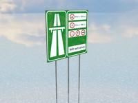 Italian Highway Sign