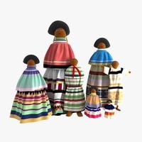 seminole dolls family