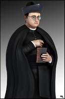 Priest. Low Poly