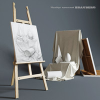 Easel BRAUBERG with composition of the plaster figures