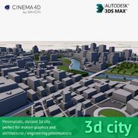 Stylized 3D City