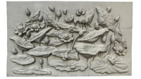 Flowers Bas-Relief 1 3D Scan