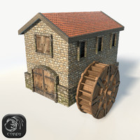 Watermill low poly