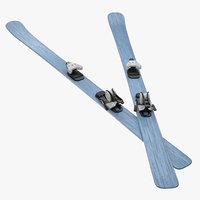 3d snow ski model