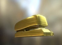 Stapler Rigged And Animated Gold Version