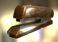 Stapler Rigged And Animated office school stapler staples supplies tableware workplace pbr rigged animated lowpoly gameready game 4k plastic furniture Copper Version