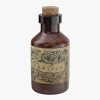 3d potion ingredient jar hemlock model