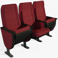 Theatrical Armchairs low + high poly