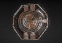 Futuristic Backup Generator Rusty Version