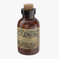 3d potion ingredient jar wolfsbane model