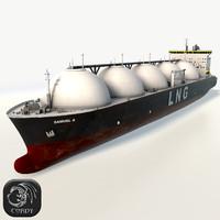 hd lng gas tanker ship 3d model