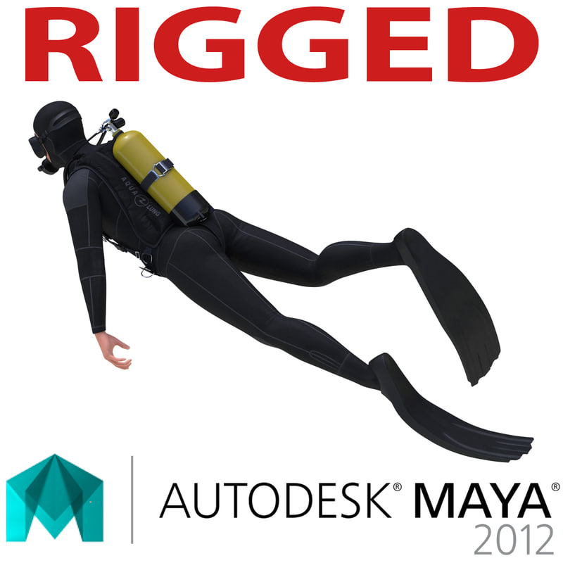Diver Rigged Maya mb 3d model 00.jpg