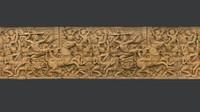Asian Bas-Relief 2 3D Scan