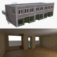 Brick building one with interior full