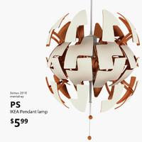 3d ikea ps 2014 lamp light model