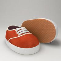 obj stylized cartoon baby shoes