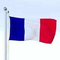 Animated France Flag