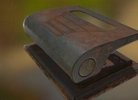 Hole Punch Rusty Version Rigged And Animated