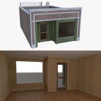 Brick building four with interior full