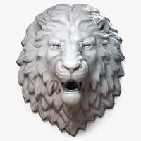 lion head 3d model