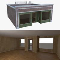 Brick building five with interior full