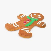 Gingerbread Man With Green Scarf