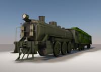 locomotive train c4d
