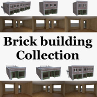 Brick building collection with interior full