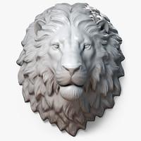 Lion Head Sculpture Calm