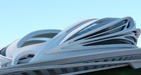 Conceptual stadium of the future