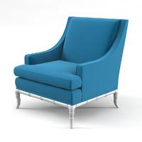 Jonathan Adler Chippendale Lounge Chair by Jonathan Adler