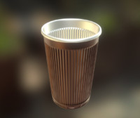 Plastic Cup Highpoly Version