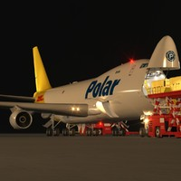 B 747-400F Polar Air Cargo Loading Operation Scene