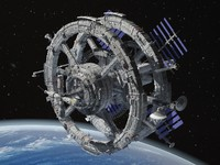 Sci-Fi Space Station