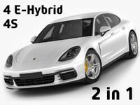 Porsche Panamera Hybrid and 4S