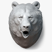 bear head sculpture 3d max