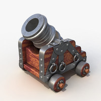 3d old weapon mortar