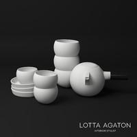 Carina Seth Andersson Tea Set -  Lotta Agaton (CORONA - VRAY)