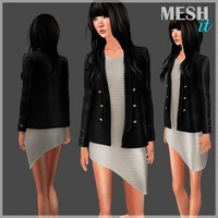 Blazer with Dress Set
