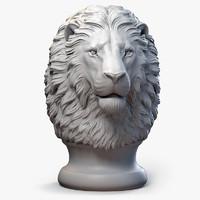 lion head sculpture 3d max