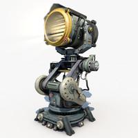 Sci - Fi Military Searchlight