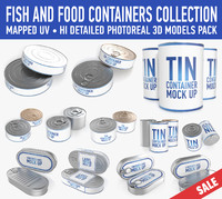 Food containers mock up collection