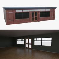 3d bar building interior