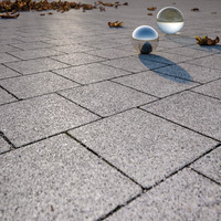 Square concrete pavement