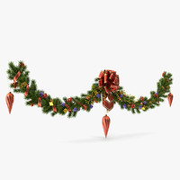 christmas wreath obj