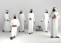 Traditional arab man from dubai posed
