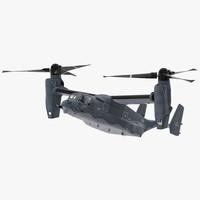 3d v-22 osprey transport aircraft